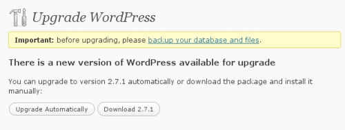 Wordpress 2.7.1